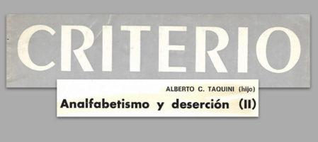 Analfabetismo y deserción II (1981)