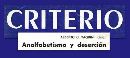Analfabetismo y deserción I (1981)